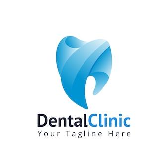 Modello di logo di odontoiatria clinica dentale