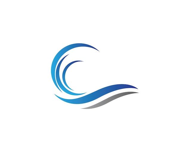 Modello di logo di onda di acqua