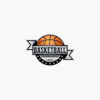 Modello di logo di pallacanestro