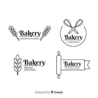 Modello di logo di panetteria piana