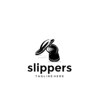 Modello di logo di pantofole