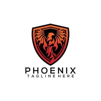 Modello di logo di phoenix