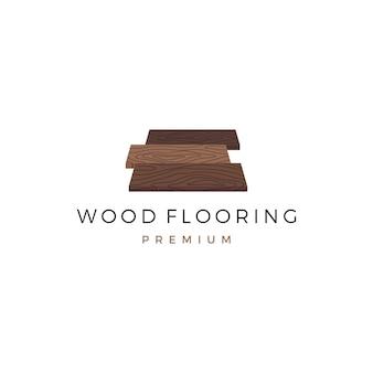 Modello di logo di piastrelle in legno di granito in legno di parquet