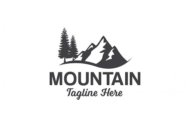 Modello di logo di picco di montagna