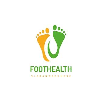 Modello di logo di piedi sani