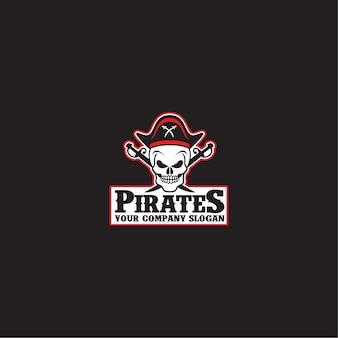 Modello di logo di pirati