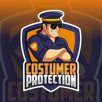 Modello di logo di polizia