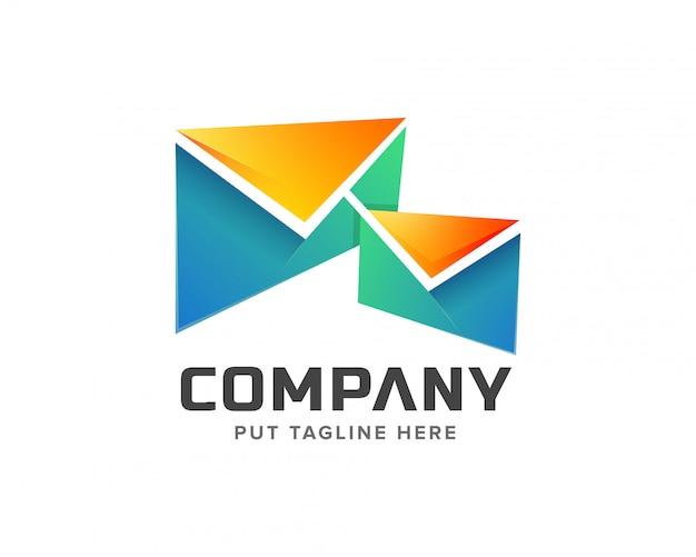 Modello di logo di posta creativa