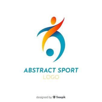 Modello di logo di sport con forma astratta
