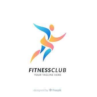 Modello di logo di sport con forme astratte