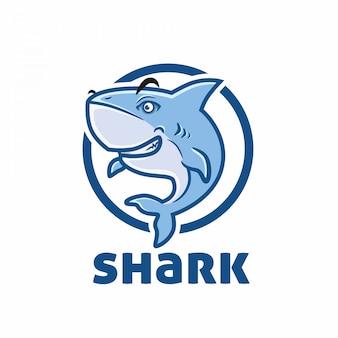 Modello di logo di squalo