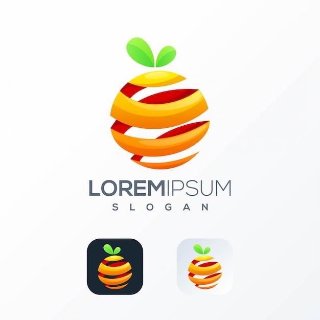 Modello di logo di succo d'arancia