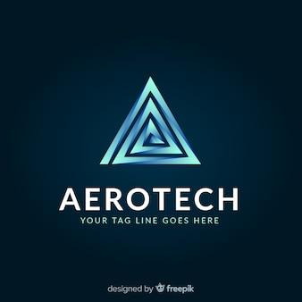 Modello di logo di tecnologia con forme astratte