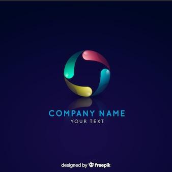 Modello di logo di tecnologia gradiente per le aziende