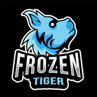 Modello di logo di tiger esport congelato