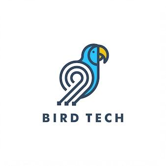 Modello di logo di uccello