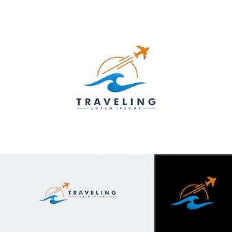 Modello di logo di viaggio