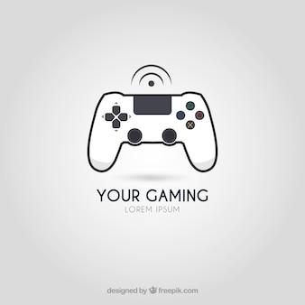 Modello di logo di videogiochi con uno stile moderno