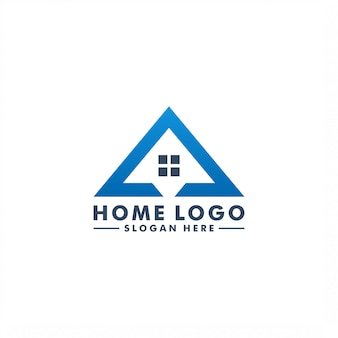 Modello di logo domestico. illustrazione domestica della costruzione del logotype dell'icona di progettazione
