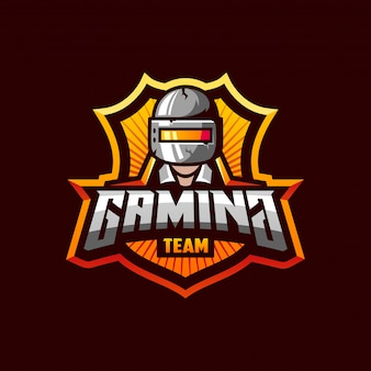 Modello di logo eccezionale per la squadra sportiva di gioco del pubg