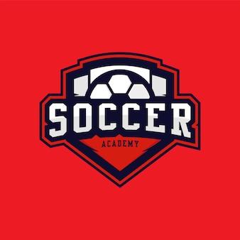 Modello di logo emblema di calcio