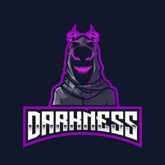 Modello di logo esport di oscurità