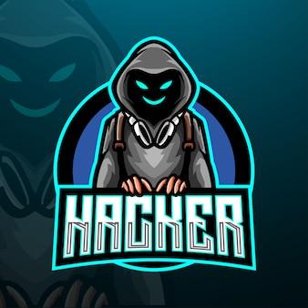 Modello di logo esport hacker