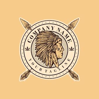 Modello di logo indiano
