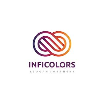 Modello di logo infinito astratto