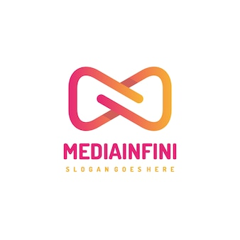 Modello di logo infinito di media astratti