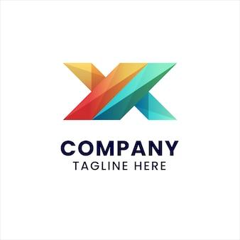 Modello di logo lettera x.