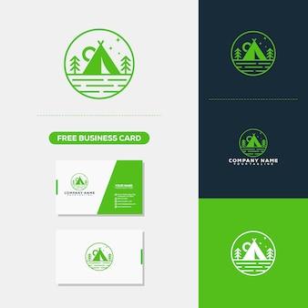 Modello di Logo Logo di montagna