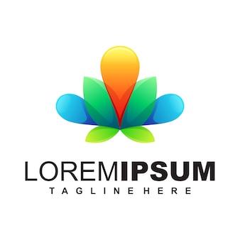 Modello di logo lotus