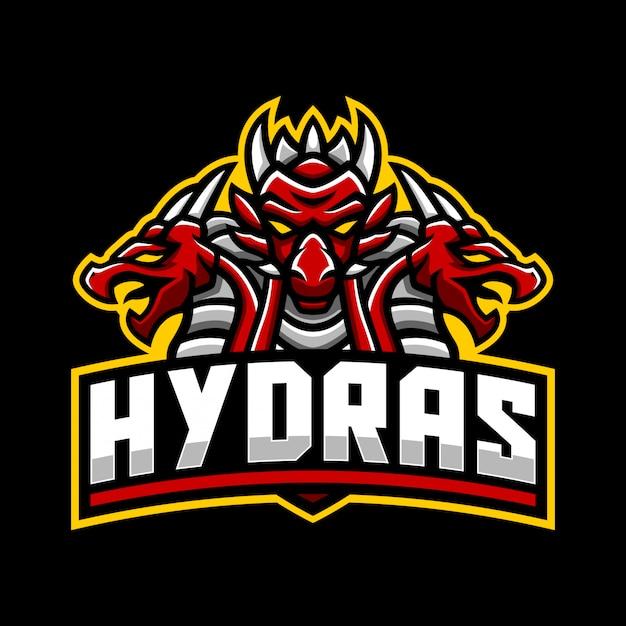 Modello di logo mascotte hydra