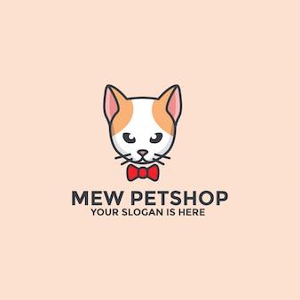 Modello di logo mew petshop