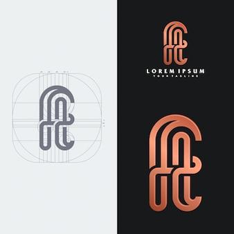 Modello di logo monogramma ft