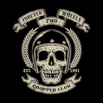 Modello di logo moto d'epoca