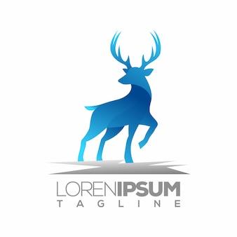Modello di logo o logotipo cervo, ispirazione identità