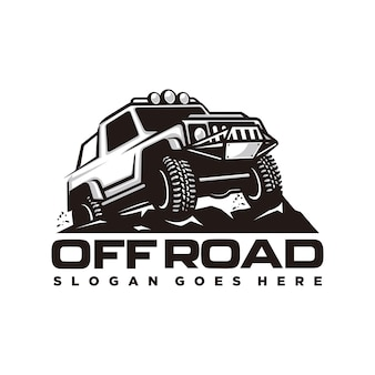 Modello di logo off road car