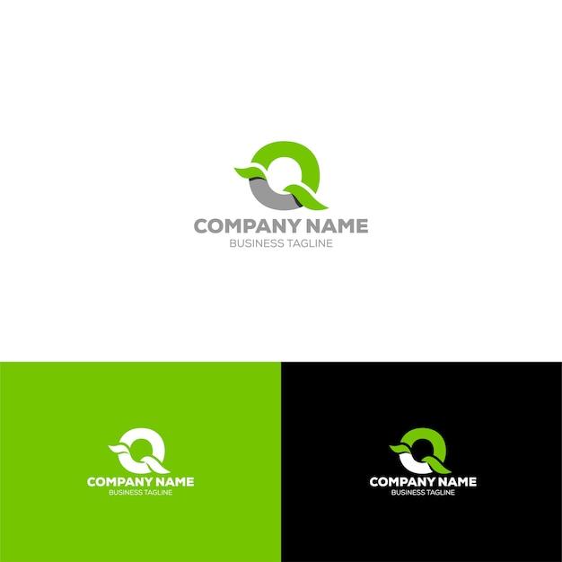 Modello di logo organico lettera q