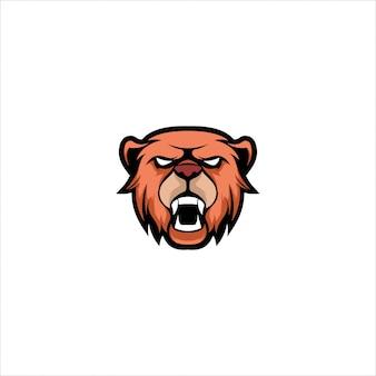 Modello di logo orso mascotte