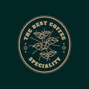 Modello di logo per il business del caffè