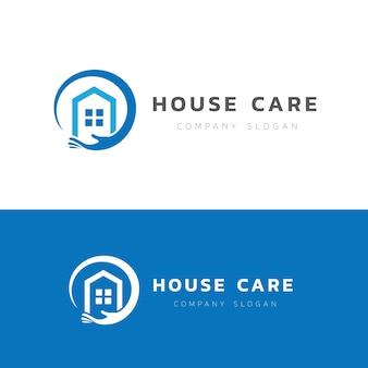 Modello di logo per la cura domestica.