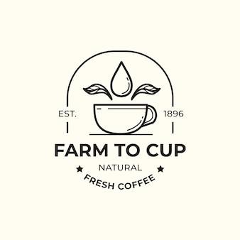 Modello di logo per la progettazione di affari del caffè