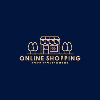 Modello di logo premium dello shopping online