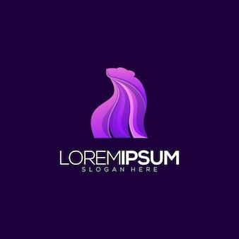 Modello di logo premium orso viola
