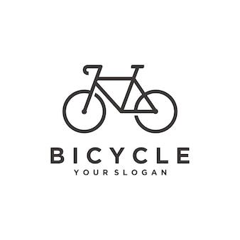 Modello di logo semplice bicicletta