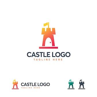 Modello di logo semplice castello