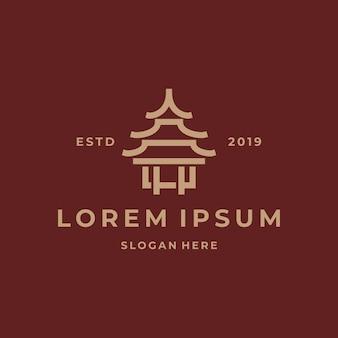 Modello di logo semplice tempio