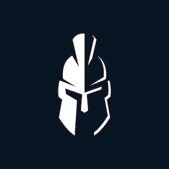 Modello di logo spartan warrior